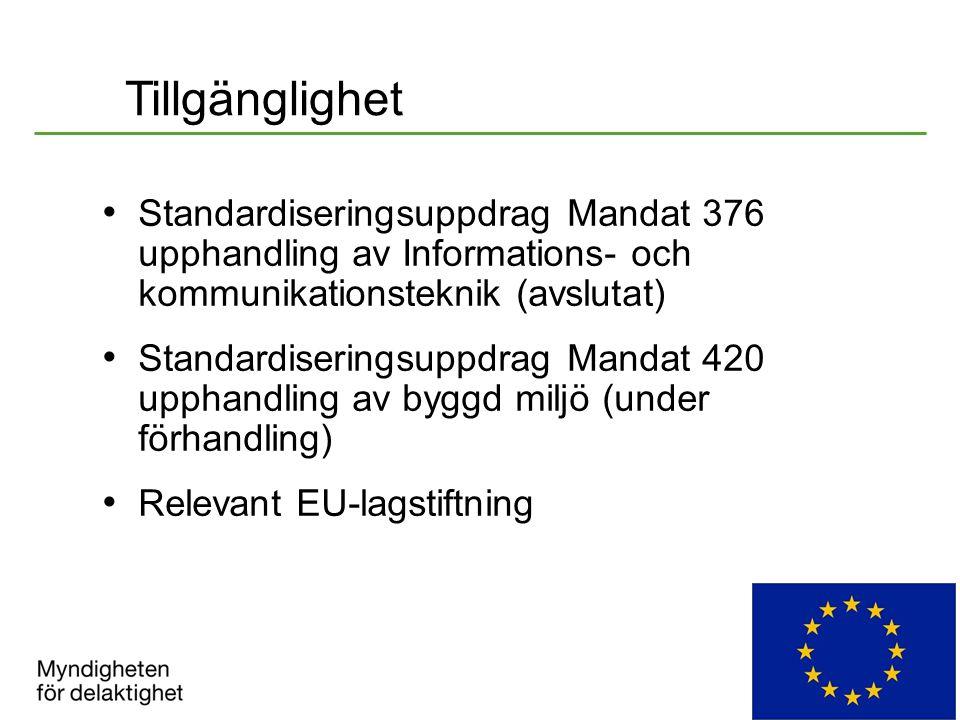 Tillgänglighet Standardiseringsuppdrag Mandat 376 upphandling av Informations- och kommunikationsteknik (avslutat)