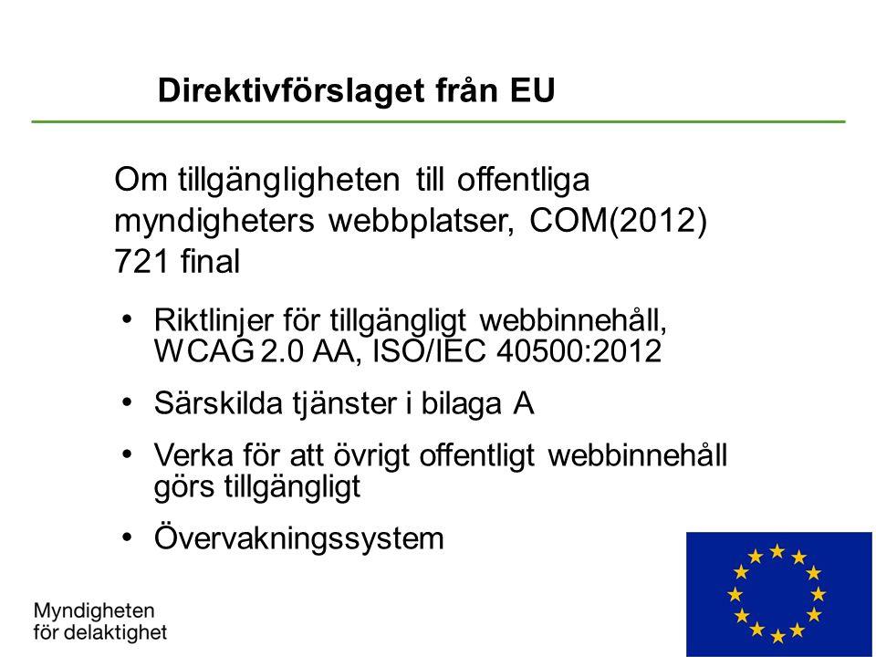 Direktivförslaget från EU