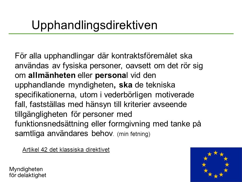 Upphandlingsdirektiven
