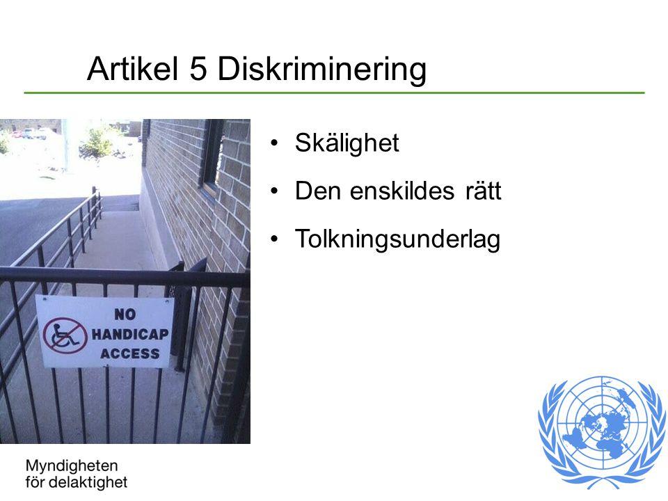 Artikel 5 Diskriminering