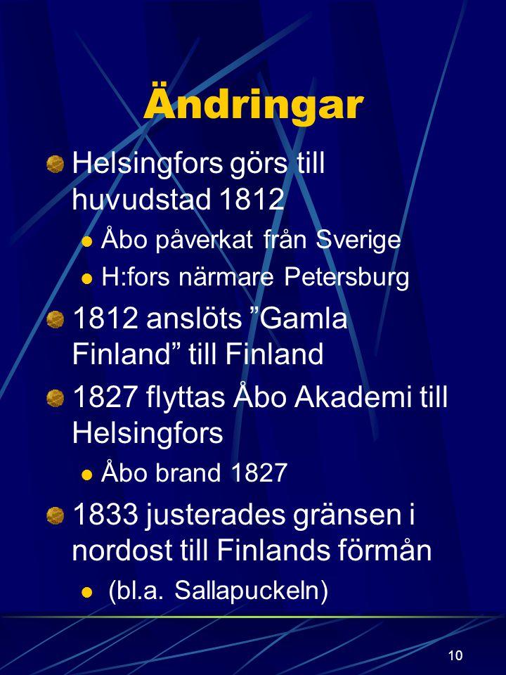 Ändringar Helsingfors görs till huvudstad 1812