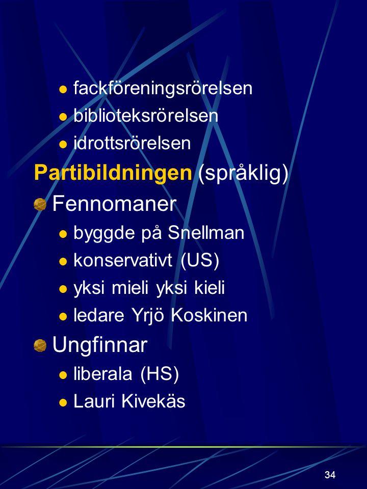 Partibildningen (språklig) Fennomaner