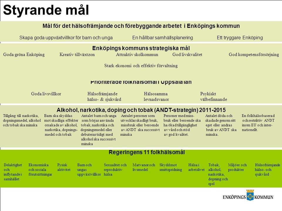 Styrande mål Mål för det hälsofrämjande och förebyggande arbetet i Enköpings kommun.