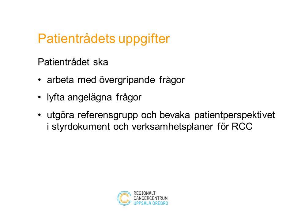 Patientrådets uppgifter