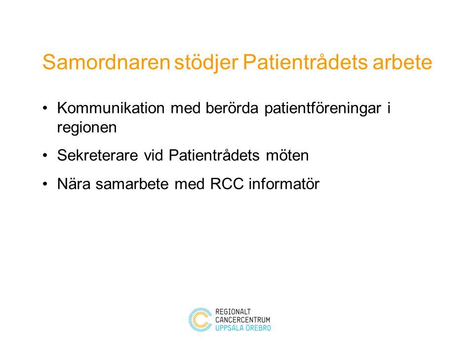 Samordnaren stödjer Patientrådets arbete