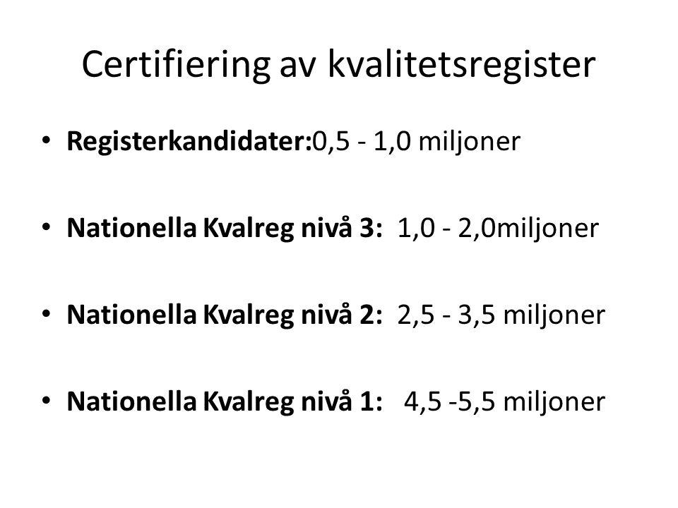 Certifiering av kvalitetsregister