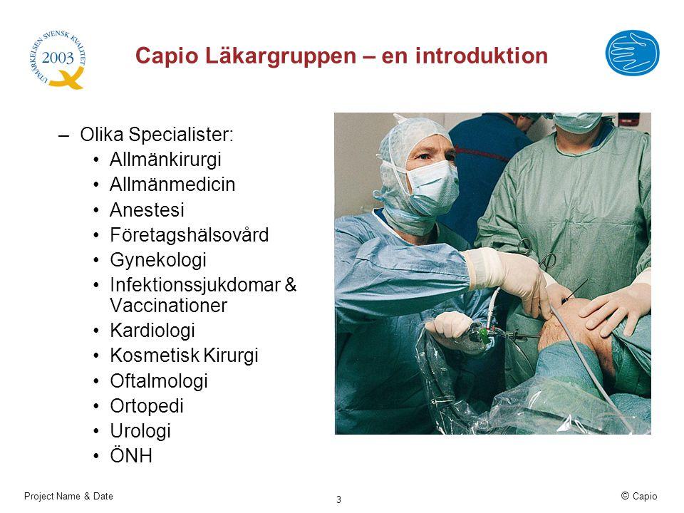 Capio Läkargruppen – en introduktion
