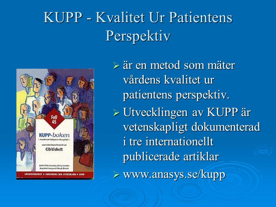 KUPP - Kvalitet Ur Patientens Perspektiv