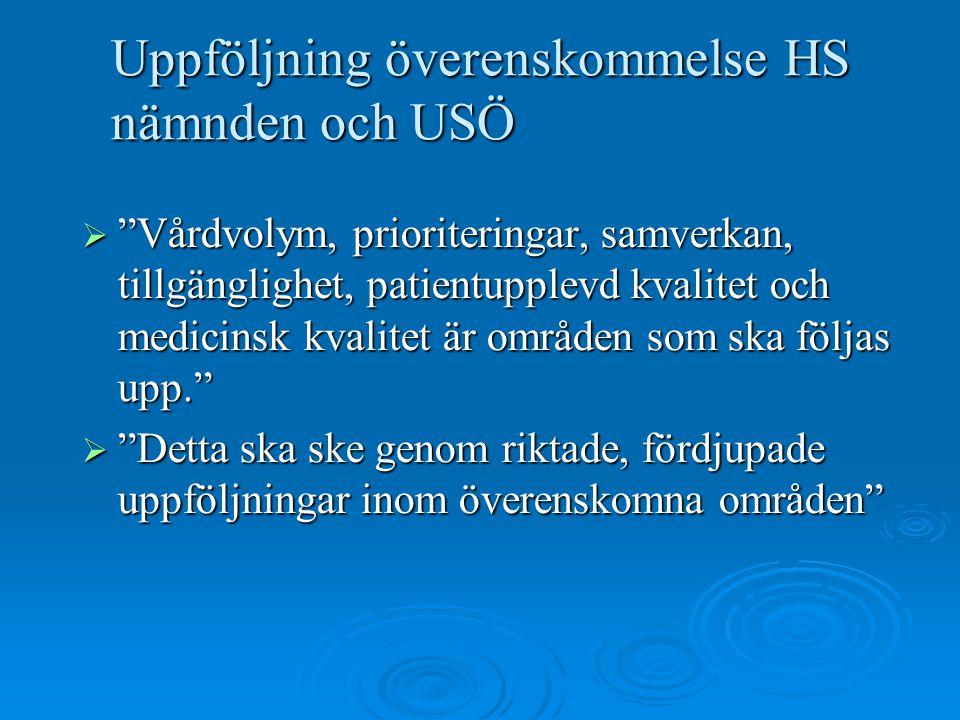 Uppföljning överenskommelse HS nämnden och USÖ