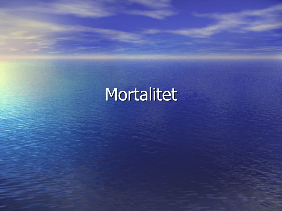 Mortalitet
