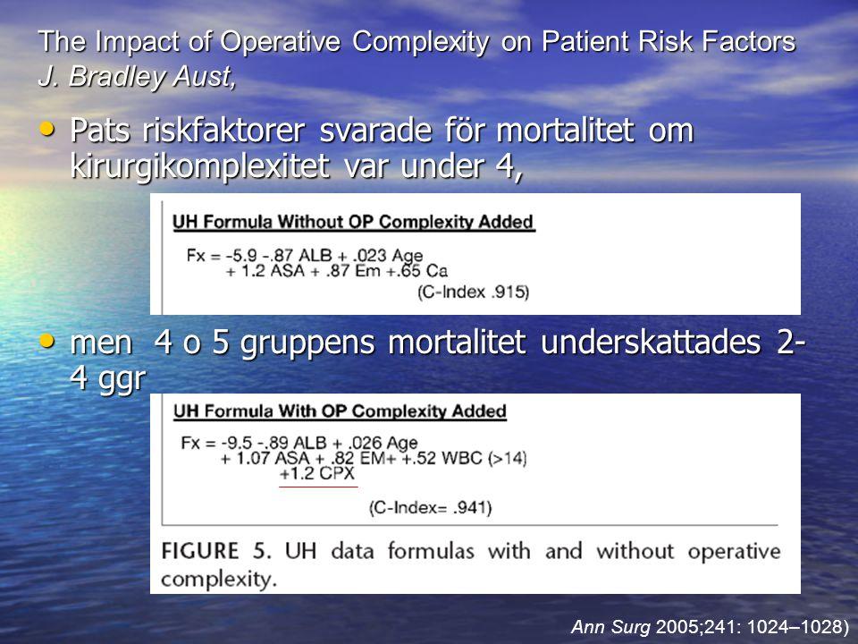 men 4 o 5 gruppens mortalitet underskattades 2-4 ggr
