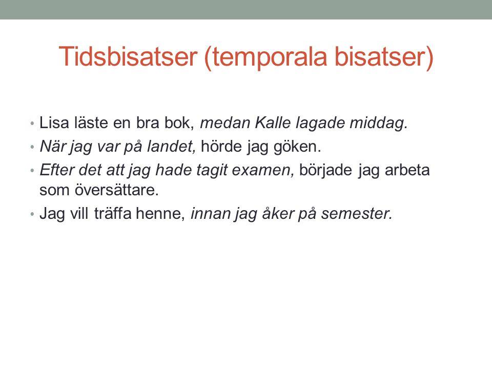 Tidsbisatser (temporala bisatser)