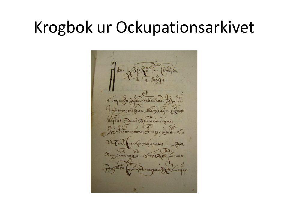Krogbok ur Ockupationsarkivet