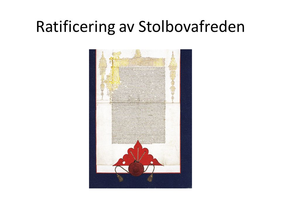Ratificering av Stolbovafreden