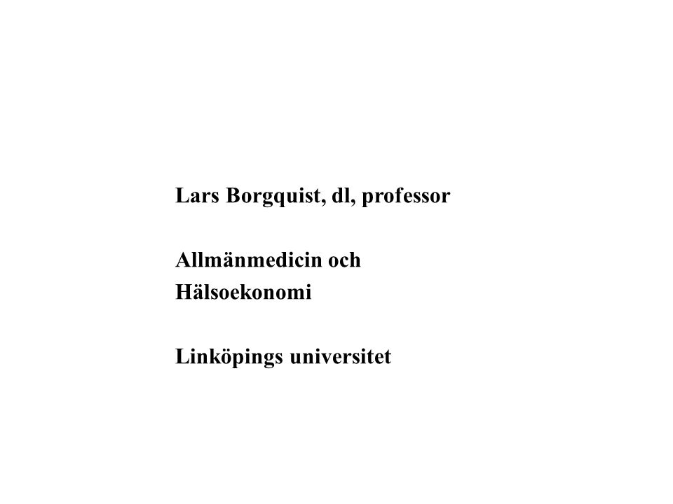 Lars Borgquist, dl, professor