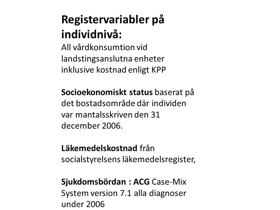 Registervariabler på individnivå: