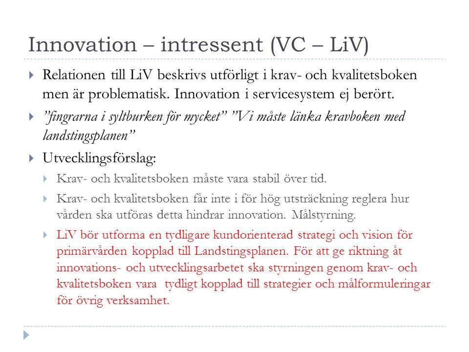 Innovation – intressent (VC – LiV)