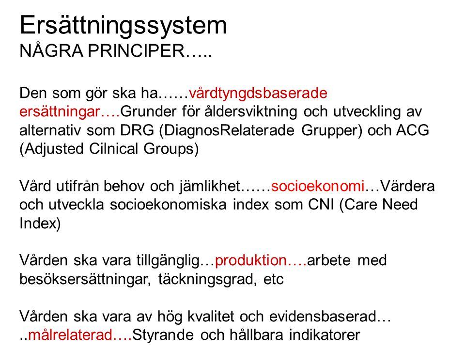 Ersättningssystem NÅGRA PRINCIPER…..