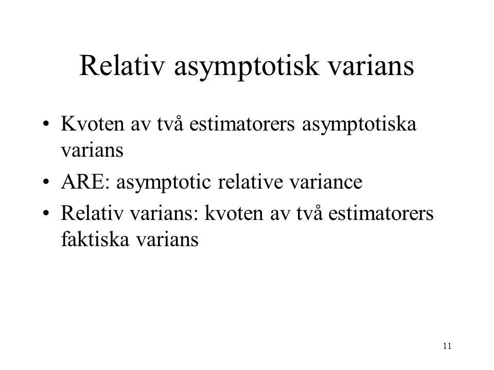 Relativ asymptotisk varians