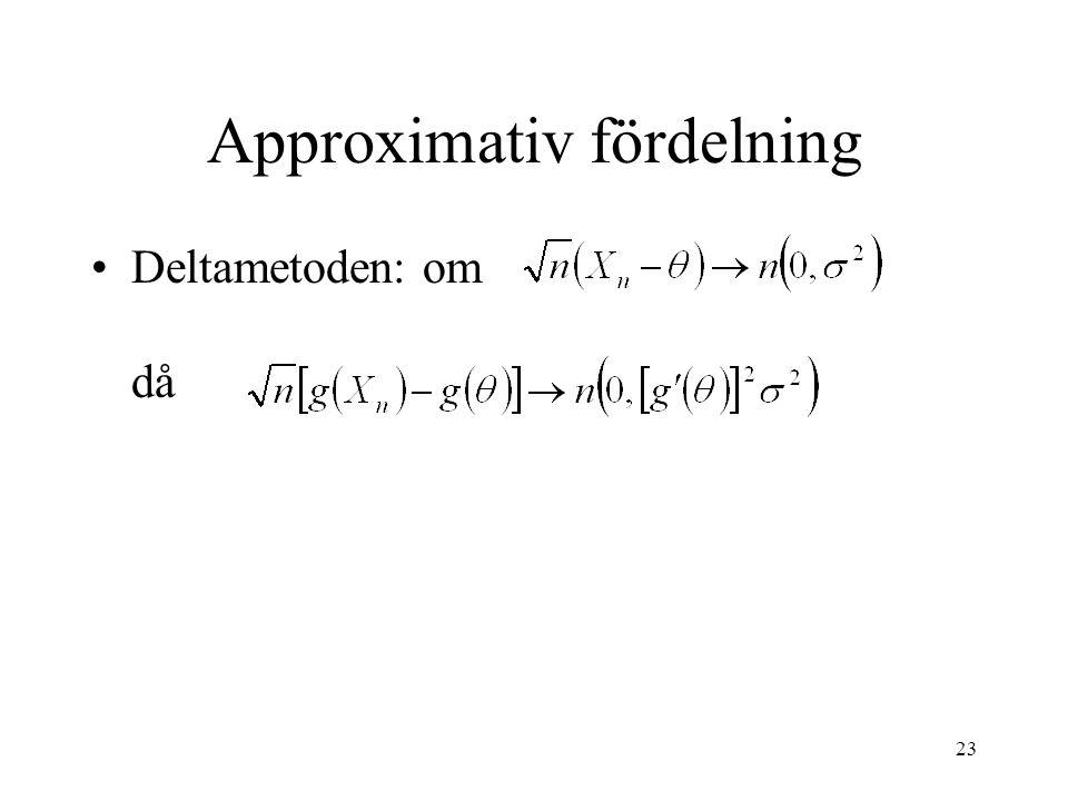 Approximativ fördelning