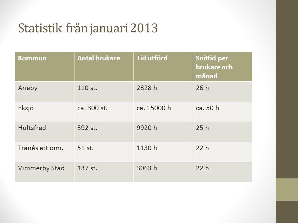 Statistik från januari 2013