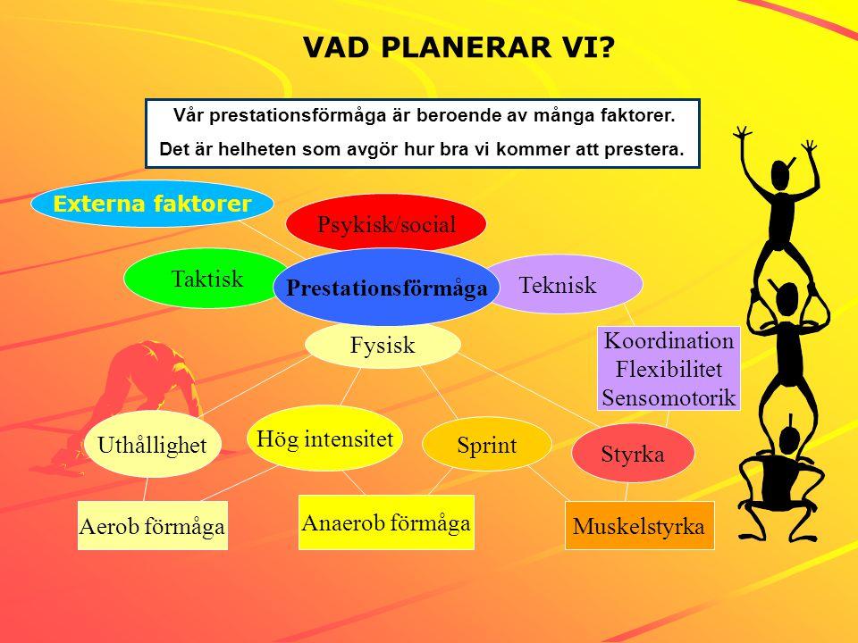 Bild 2 VAD PLANERAR VI Taktisk Teknisk Fysisk Psykisk/social