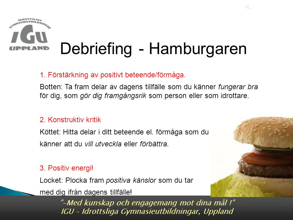 Debriefing - Hamburgaren Debriefing - Hamburgaren
