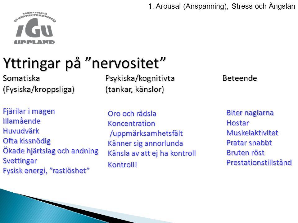Yttringar på nervositet