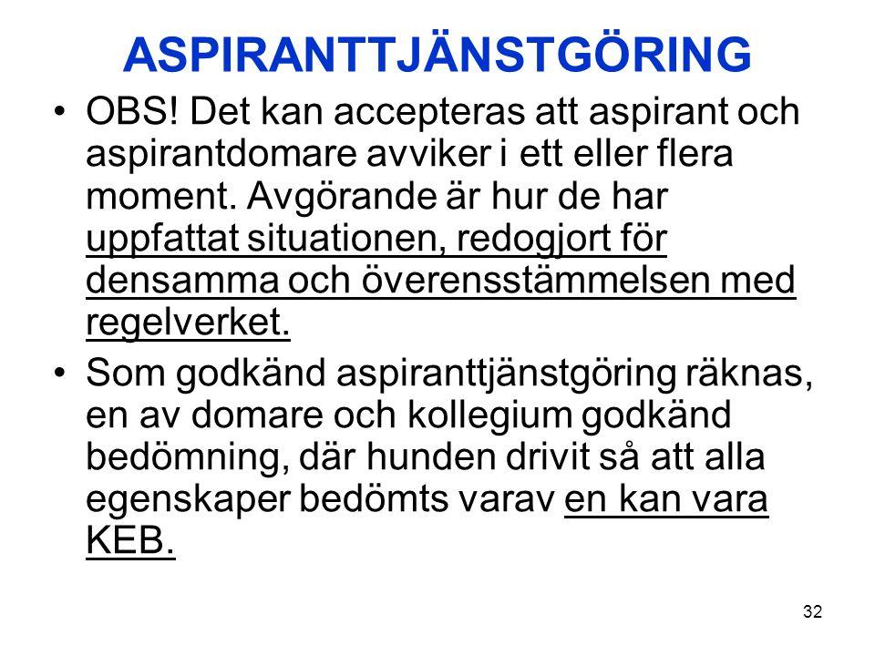 ASPIRANTTJÄNSTGÖRING