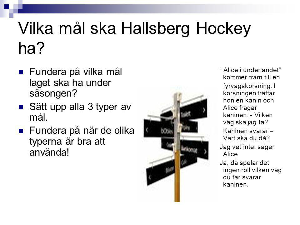 Vilka mål ska Hallsberg Hockey ha