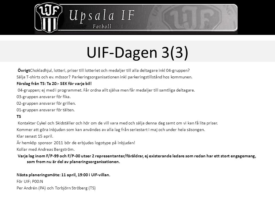 UIF-Dagen 3(3)