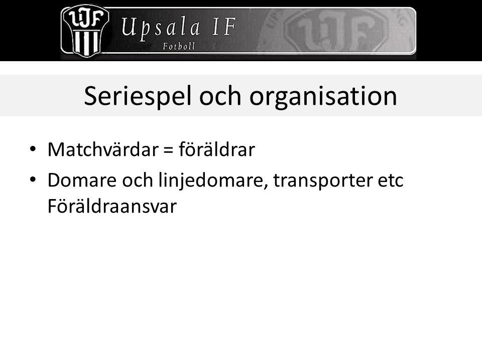 Seriespel och organisation