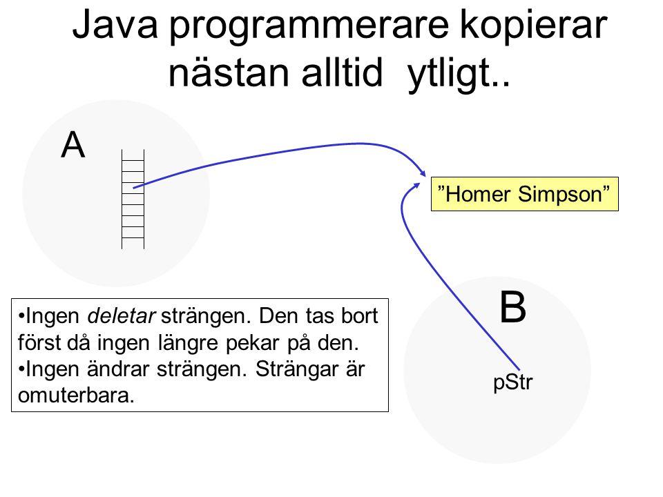 Java programmerare kopierar nästan alltid ytligt..