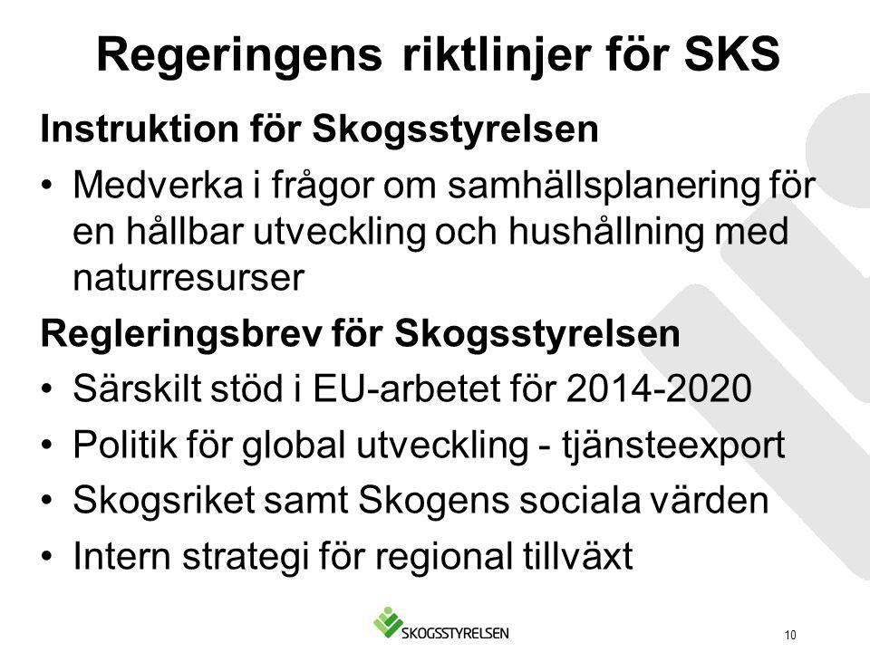 Regeringens riktlinjer för SKS