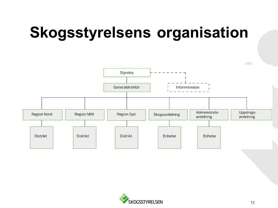 Skogsstyrelsens organisation