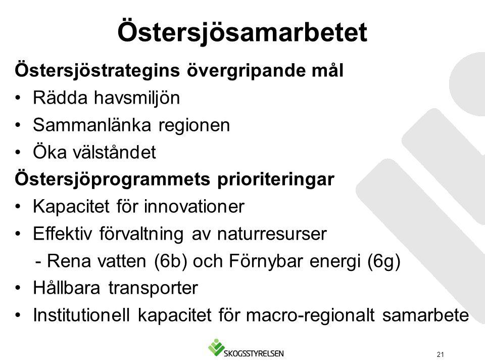 Östersjösamarbetet Östersjöstrategins övergripande mål