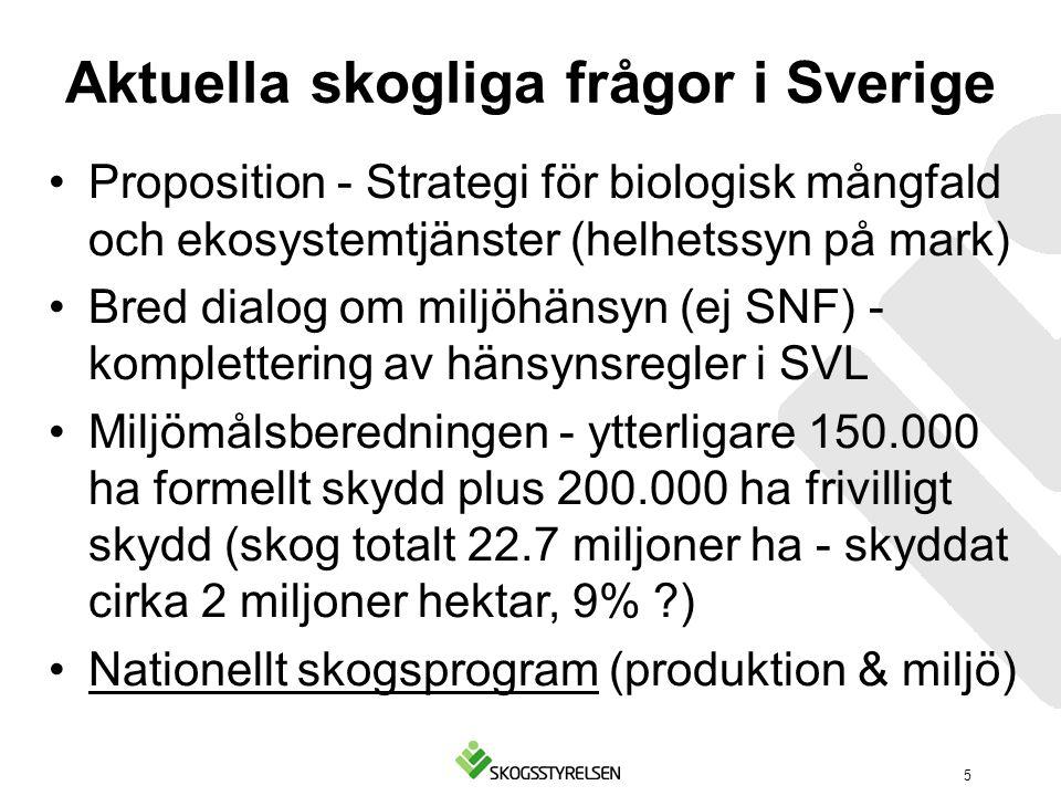 Aktuella skogliga frågor i Sverige