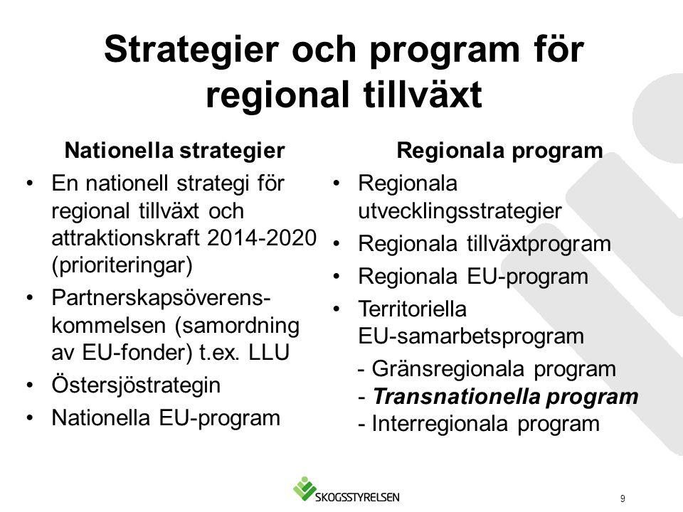 Strategier och program för regional tillväxt