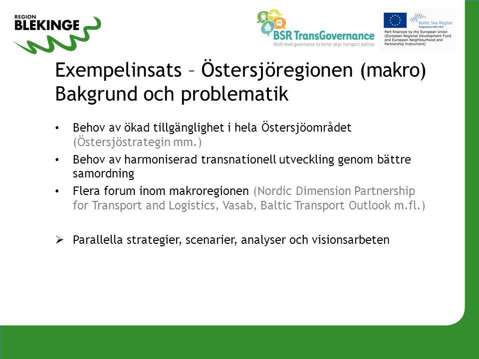 Exempelinsats – Östersjöregionen (makro) Bakgrund och problematik
