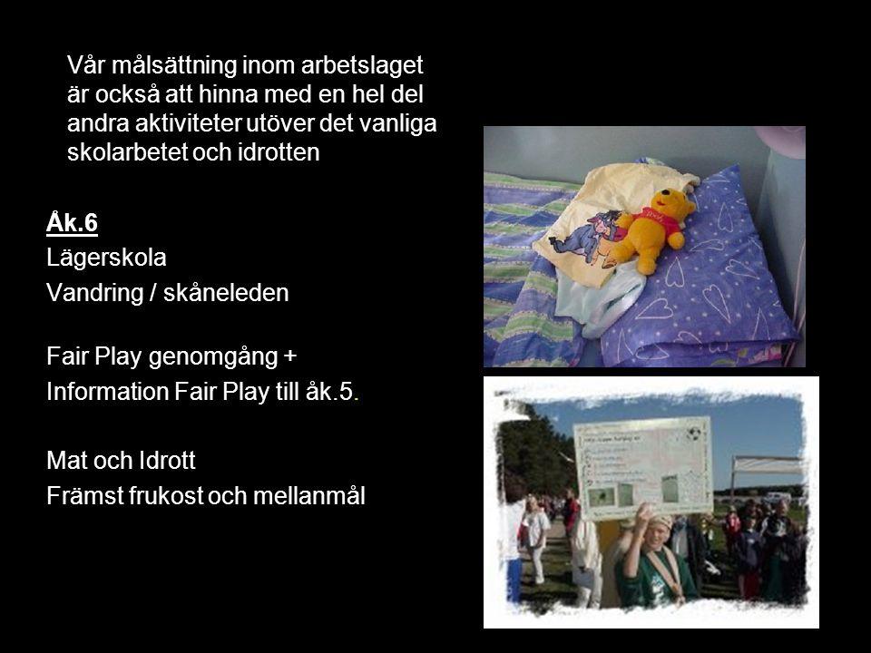 Information Fair Play till åk.5. Mat och Idrott