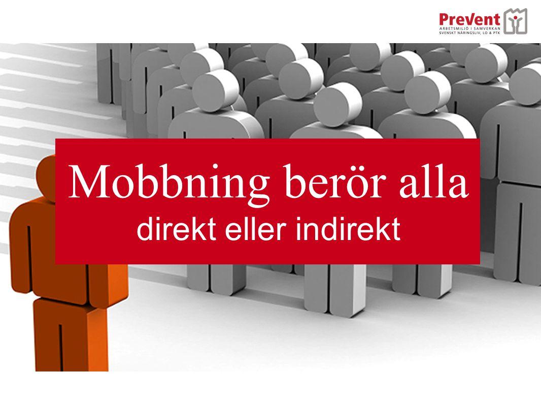 Mobbning berör alla direkt eller indirekt
