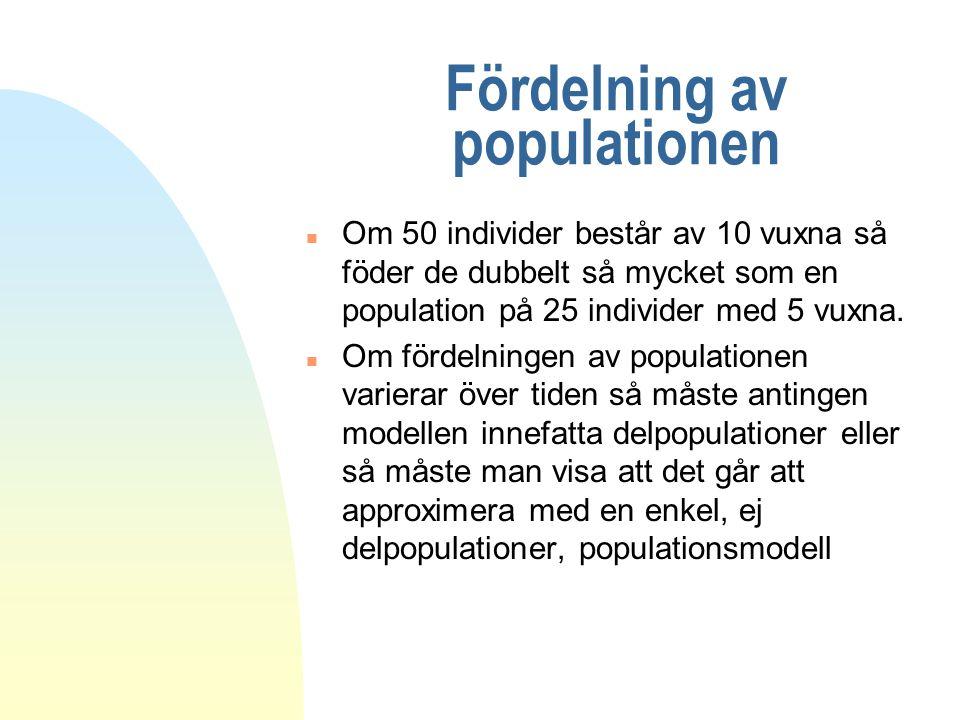 Fördelning av populationen