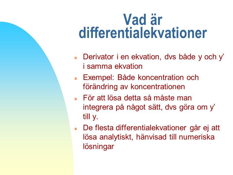 Vad är differentialekvationer