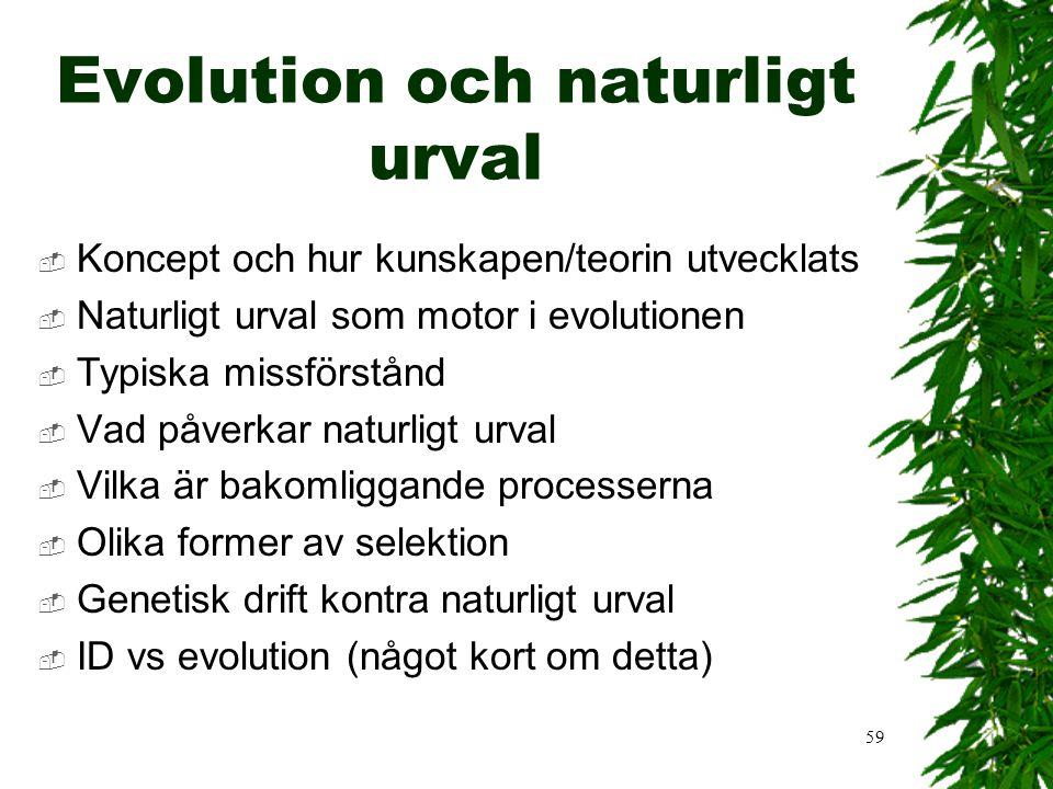 Evolution och naturligt urval