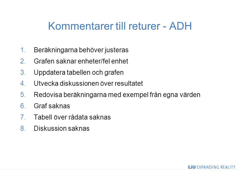 Kommentarer till returer - ADH