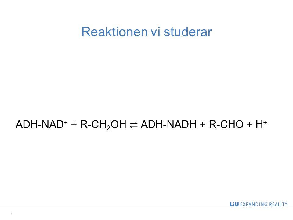 Reaktionen vi studerar