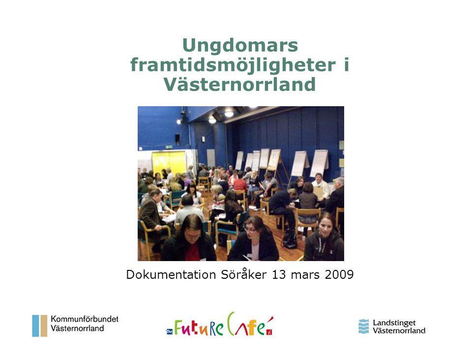 Ungdomars framtidsmöjligheter i Västernorrland