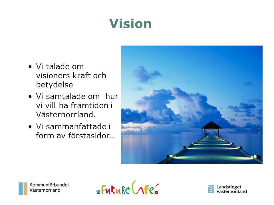 Vision Vi talade om visioners kraft och betydelse
