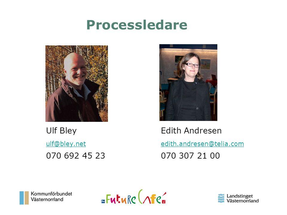 Processledare Ulf Bley Edith Andresen 070 692 45 23 070 307 21 00