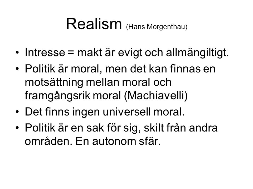 Realism (Hans Morgenthau)